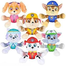 "New 6"" Paw Patrol Plush Stuffed Animal Toy Chase, Rubble,Eve"