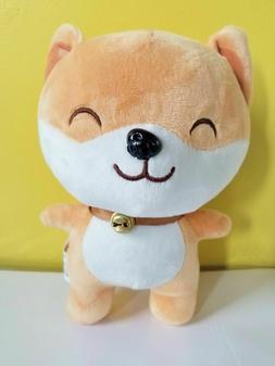 "New 8"" Soft Cute Shiba Inu Stuffed Animal With Bell Plush Ki"