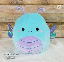"""☆NEW☆ 8"""" Squishmallow Heather Dragonfly Collection Gift"""
