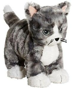 "NEW IKEA 9"" GRAY TABBY CAT KITTEN KITTY STUFFED ANIMAL TOY S"