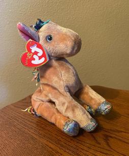 NEW TY Beanie Baby The HORSE Zodiac Retired 2000 Stuffed Ani