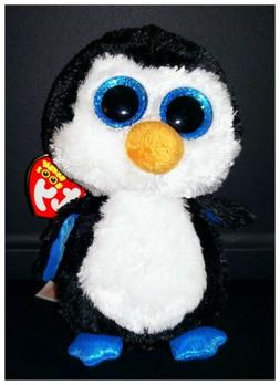 """NEW TY Beanie Boos 6"""" WADDLES the PENGUIN Plush"""