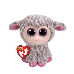 "New Ty Beanie Boos Dixie Gray Lamb 6"" Plush Stuffed Animal B"