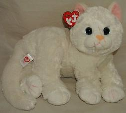 New! Ty Classic CRYSTAL the White Kitty Cat Medium Buddy 9""