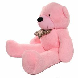 "NEW Giant 55""  Stuffed Pink Teddy Bear  -New, Vacuum Sealed"