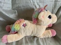 NEW LARGE Pink Rainbow Unicorn Plush BIG Stuffed Animal Soft