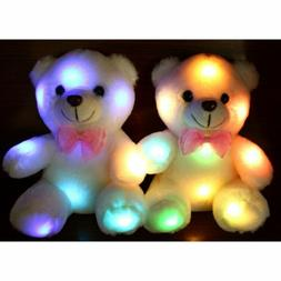 New LED Flash Teddy Bear Stuffed Animals Plush Soft Hug Toy