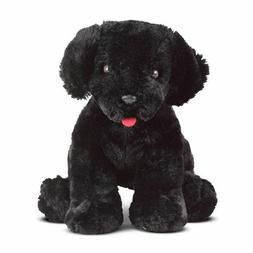 "NEW MELISSA & DOUG Benson Black Lab 10"" Stuffed Animal Dog P"