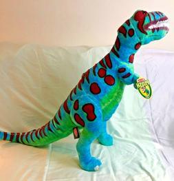 "NEW! Melissa and Doug T-Rex Plush Dinosaur/ 28"" Tall/ Blue a"