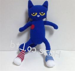New One Pete the Cat Blue Kitten Stuffed Plush Animal Toy Ki