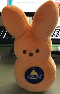 "New PEEPS Plush 9"" Light Orange Bunny Rabbit Stuffed Animal"