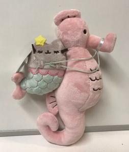 Gund NEW * Pusheen Mermaid & Seahorse 8.5 Inch Key Chain * C