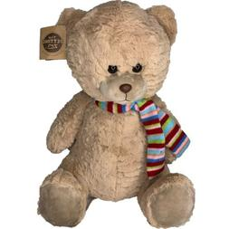 New The Petting Zoo Stuffed Animal Plush Winter Brown Teddy