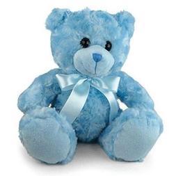 New Teddy Bear with Blue Ribbon Kids Plush Stuffed Animals T