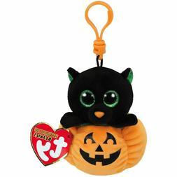 NEW Ty Beanie Boos Midnight Cat and Pumpkin Stuffed Animal C
