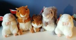 NWT  Plush AURORA Small Stuffed Animals, Hamsters, Chipmunk
