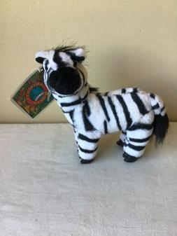 "NWT Animals Of The World Grevys Zebra Nanco 1993 8"" Tall Plu"