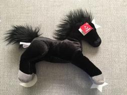 NWT Aurora Black Horse Baby Toy Stuffed Animal Plush