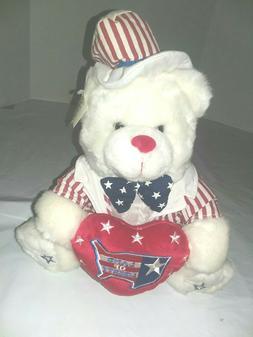 """NWT Liberty Bear Stuffed Plush 15"""" Americana 4th of July Lan"""