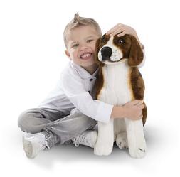 NWT Melissa & Doug Giant Beagle - Lifelike Stuffed Animal Do