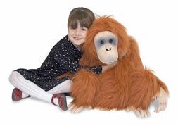 nwt melissa and doug giant orangutan lifelike