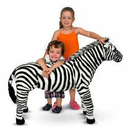 nwt melissa and doug giant striped zebra
