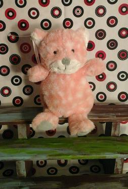 NWT NEW Mary Meyer Cat pink white polka dots gray baby lovey