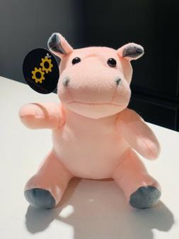 NWT Super Soft Toy Works Toy Factory Cute Pink Hippo stuffed
