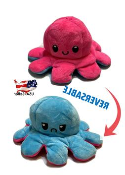 Octopus Plush Reversible Flip Stuffed Toy Soft Animal Home A
