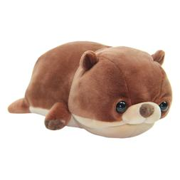 Otter Plush Toy Super Soft Stuffed Animal Doll Brown Japan K