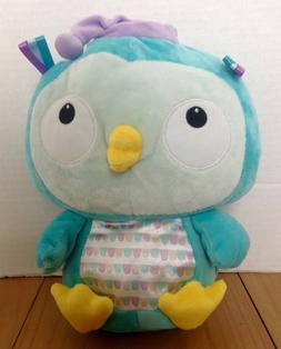 "Hallmark Owl Plush Stuffed Animal 10"" Nightcap Aqua Blue New"