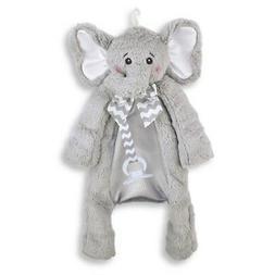 Bearington Baby Lil' Spout Pacifier Pet, Gray Elephant Plu