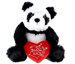 Mozlly Panda Bear I Love You Valentines Stuffed Animal - Hea