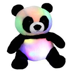 WEWILL LED Panda Stuffed Animal Glow Soft Plush Toys, Light