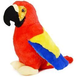papaya the scarlet macaw 12 inch stuffed