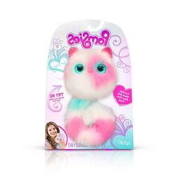 Pomsies Patches Plush Interactive Toys, White/Pink/Mint-East