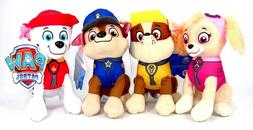 New Paw Patrol Plush Stuffed Animal Toy Set: Chase, Rubble,