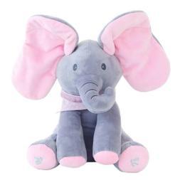 Peek-a-Boo Elephant Stuffed Doll Animated Talking and Singin
