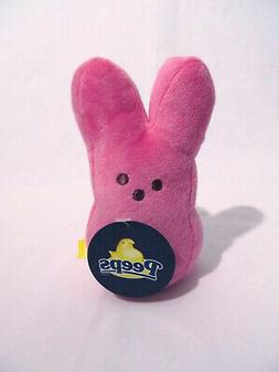 """Peeps Plush Bunny - 6"""" Pink Great for Easter Basket - New wi"""