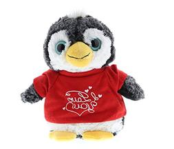 DolliBu Penguin I Love You Valentines Stuffed Animal - Red M