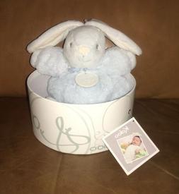 "KALOO ""Perle"" Chubby Small Blue Rabbit Stuffed Animal Lo"