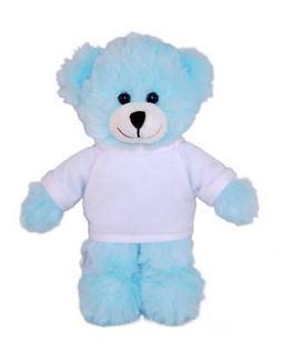 "Personalized 12"" Blue Teddy Bear Toys Stuffed Animals w/ Imp"