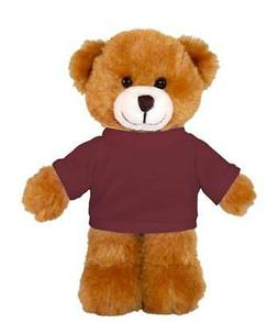 "Personalized 12"" Brown Teddy Bear Toys Stuffed Animals w/ Im"