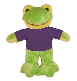 "Personalized 12"" Frog Plush Toys Stuffed Animals w/ Imprinte"