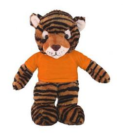 "Personalized 12"" Tiger Plush Toys Stuffed Animals w/ Imprint"