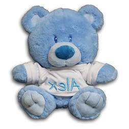 Personalized Baby Boy Bear with T-Shirt Sitting Plush Stuffe