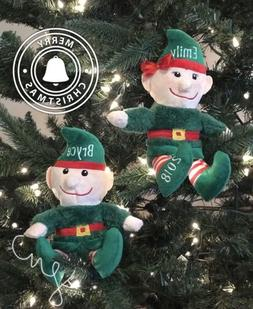 personalized elf christmas elves plush stuffed animals