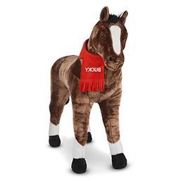 Melissa & Doug Personalized Giant Horse Lifelike Stuffed Ani