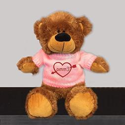 Personalized Heartstruck Snuggle Teddy Bear - Brown, 12 inch