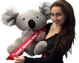 Personalized Large Stuffed Koala Bear 26 inches Soft America